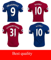 Wholesale Whosales MancHesTer Soccer Jersey Uniteds Soccer Uniforms kit Sets Zlatan Ibrahimovic Martial Thai Quality ROONEY Memphis be