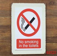 Wholesale no smoking TIN SIGN Old Wall Metal Painting ART Decor AA Mix order CM