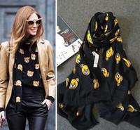 bear jumper - Autumn and winter jumper mos bear black fluid scarf all match female