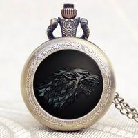analog clock games - Fashion Cool Game of Thrones Pattern Pocket Watch Men Women Unisex Pendant Watches Clock P1104