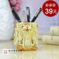 Wholesale Elephant Pen creative office desktop ornaments gifts home furnishings European fashion cute decorations