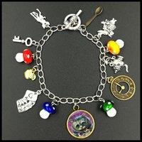 alice bracelets - alice in wonderland themed charm bracelet tv series inspirational jewelry BF228