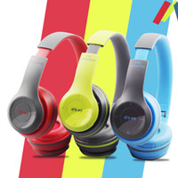Cheap P47 Wireless Headphone Bluetooth Headphone FM Stereo Radio MP3 Player TF Card 4.1 EDR For Iphone Samsung Cellphone With Retail box EAR196
