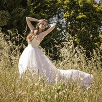 beads fairy - Elegant fairy anna campbell wedding dresses under quot Over Skirts quot veil chiffon beads country style wedding dresses Bride gowns QW719