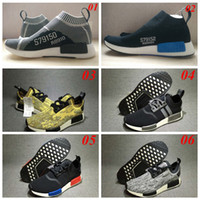 Wholesale 2016 NMD Runner PK Human Race Runner Boost Running Shoes Best Quality Trainers Hu race For Men Women Sport Shoes Sneaker Size US5