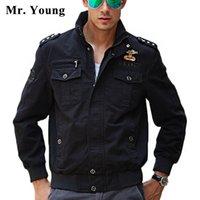 army rank - Mr Yong US Army Chest Logo Shoulder Rank Mark Men Military Cotton Jacket Swag MA Men Tactical Jacket Pilot Jacket Coat