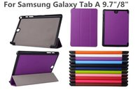 Wholesale Slim Smart Cover For Samsung Galaxy Tab A inch T350 T550 T355C T555C T580 T280 Stand Cover Tri Folding Folio Cover Shell