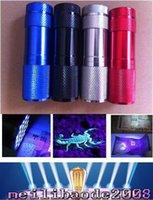 Cheap HOT 9LED Aluminium Mini Portable UV Ultra Violet Blacklight 9 LED Flashlight Torch Light FREE SHIPPING MYY