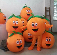 Wholesale 2016 High Quality orange fruit mascot costume suit for any size mascot costume suit Fancy Dress Cartoon Character Party Outfit Suit
