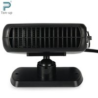 Wholesale 2 in V W Protable Auto Car Heater Heating Cooling Fan with Cigarette Socket Plug Driving Enthusiasts Defroster Demister