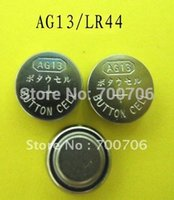 Wholesale A of pieces AG13 battery LR44 button cell v A alkaline coin cell battery
