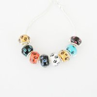 beads agent - Yiwu Agent per Mixed Color Cats Claw Rondelle X14MM Pandora Acrylic Big Hole Bead For Jewelry Making