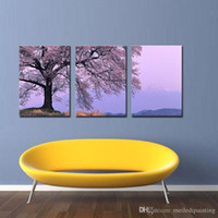 asia frames - Asia Modern Abstract Wall Art Painting On Canvas New Style NO Frame with The cherry tree landscape Wall Decor Art Canvas Picture Decor