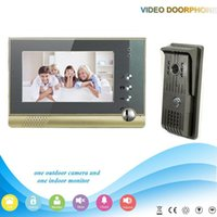 Wholesale Free DHL XSL V80 F V1 Manufacturer inch Wired Video Door Phone Intercom System Door LocK Access Control Home Security