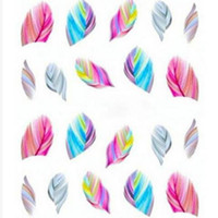 beautiful nail tips - Nail Art Tips Feather Decals Hot Sale New Arrival Colorful Beautiful Leopard Water Transfer Stickers