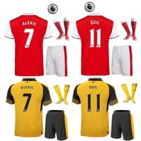 arsenal patch - 2016 Arsenal home and away soccer jersey the full set football jersey with socks ozil alexis walcott football jersey with patches