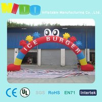 Wholesale kindergarden activities landscape inflatable arches small hands pats customized cartoon inflatable arches children s paradise decoration