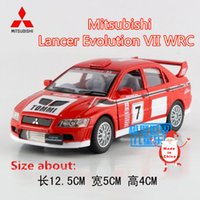 Wholesale KINSMART Diecast Model Scale Mitsubishi Lancer Evolution VII WRC Toy for Children s Gift or Collection pull Back educational limited