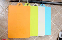 Wholesale 200 fedex Candy color Flexible thin chopping board portable cutting board Necessary to go out for a picnic