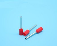 Wholesale 1000pcs VE0512 red European terminal Cold pressing pin Tube type terminals E0512 material copper tin plated