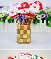 Wholesale Pieces bag Christmas wedding dress up Santa Claus ball point pen Pen Christmas gifts caneta kawaii Pen Al Por Mayor