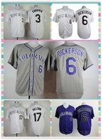 baseballs dickerson - New Product Men s Colorado Rockies Baseball Jersey Daniel Descalso Corey Dickerson Todd Helton Grey White Blue Jerseys