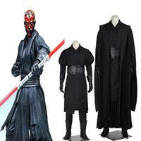 Wholesale HOT Movie Star Wars Jedi Knight Darth Maul Cosplay Costume Any Size For Adult Unisex Halloween Party