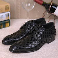 Wholesale Italian Style Fashion Genuine Leather Men Oxford Shoes Pointed Toe Casual Business Men Shoes Brand Men Dress Wedding Shoes