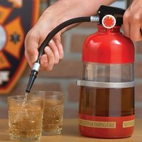 beer beverage container - 800ml Creative Fire Extinguishers Water Beer Red Wine Dispenser Pourer Cool Healthy Eco friendly Plastic Drink Beverage Container Machine