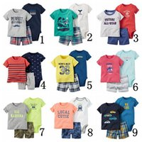 american girl tshirt - Boys Girls Suit Casual Short Cotton Three piece Tshirt Pant Climb Clother Toddler Infant Casual Suits Spring Children Outfits