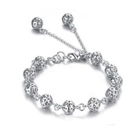 Wholesale European and American fashion thread empty ball bracelet sterling silver bracelet female models jewelry sweet clear