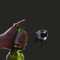 bartenders bottle openers - Hot Sale Bartender Tool Cool Design Ring Opener Stainless Steel Finger Ring Shaped Beer Bottle Opener