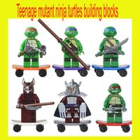 action bag - Action Figures Minifigures a set suit with arms skateboard Mirage Teenage Mutant Ninja Turtles Package opp bag