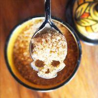 Wholesale Stainless Coffee Spoon Skull Shape Dessert Spoons Ice Cream Sugar Tea Tableware Vaisselle Kitchen Accessories