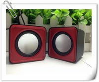 Wholesale USB Mini Subwoofer Small Stereo Computer Speakers Personality Luminous Desktop PC Laptop Speakers Square Portable Mini Speaker