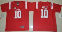 Wholesale 2016 College Football Ole Miss Rebles Youth Jerseys Chad Kelly Red Jersey Kids Team Home All Stitching Free Drop Shipping