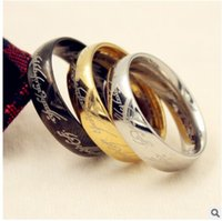 Wholesale 20pcs Band Stainless Steel Ring Mixed The Lord Of The Rings Mens Womens Top mm Polished Band Jewelry Rings Band Ring