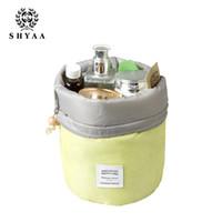 Wholesale SHYAA Women Bags Travel Large Capacity Makeup Bag Wash Bag Waterproof Outdoor Travel Kit Bag Cylinder Cosmetic Bag drop shipping
