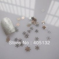 Wholesale MS Metal Silver Snowflake Nail Art Metal Sticker Nail Art Decoration Fancy Outlooking nail art decoration