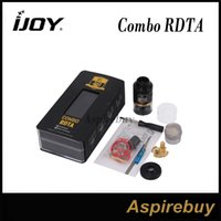 rda - iJoy Combo RDTA Atomizer RTA RDA Rebuildable Dripping Tank with ohm Pre made Coil Optional Decks RDA Base Changeable iJoy Combo rdta