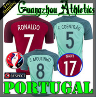 Wholesale 2016 Portuguese Home Away football Jersey Portugal RONALDO NANI F COEMTRAO J MOUTINHO shirt