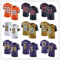 authentic broncos jerseys - 2016 New realeased Rush Football Jerseys Broncos Von Miller Texans JJ Watt Brock Osweiler purple Limited Jerseys authentic shirt