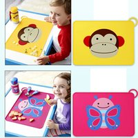 baby dining table - New Waterproof Non Slip Placemat Table Mat Cut Cartoon Silicone Baby Children Dining Placemats Portable Table Mats