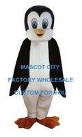 baby black panther - Baby Penguin Mascot Costume Adult Size the Antarctic Animal Black Panther Cosply Costume Carnival Mascotte Mascota Suit Kit SW1084