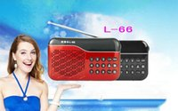 Wholesale 2016 High Quality Home Mini Portable Radio Digital Radio with Stereo Speaker for TF card L