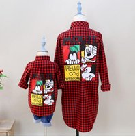 Wholesale Family Clothing Casual Plaid Shirt Blouse Family Clothes Mother and Daughter Clothes New clothes Family Clothing