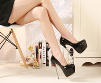 Wholesale 2016 Fetish Footwear Women Patent Leather Pumps Sexy Pointed cm inch High Heels Shoes Mistress Roleplay