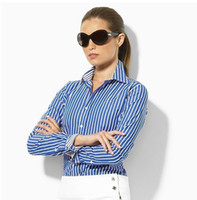 Wholesale High Quaity autumn Fashion new style Women lady long sleeves office blouses plaid women sexy shirt size S XL