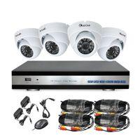 Wholesale 4CH Realtime FULL P DVR KIT x AHD P Night Vision ft CMOS CCTV Camera Security System Surveillance Recorder CCTV System
