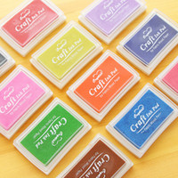Wholesale Hot Sale DIY Craft Ink Pad Colorful Stamp Inkpad For Decoration Photo Scrapbooking Korean Stationery